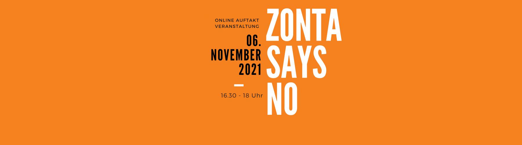 Zonta says NO 2021 Auftaktveranstaltung